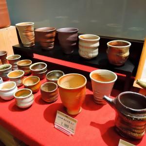 南九州市川辺町の「山仁田の隠れ窯・穴窯」カップ他